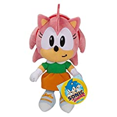 "7"" Scale Basic Amy Plush kids will love playing with these authentic plush from the Sonic the Hedgehog video games! Each plush is made from super soft fabrics Stylized plush based of fan favorite characters! Suggested for Ages 3+"