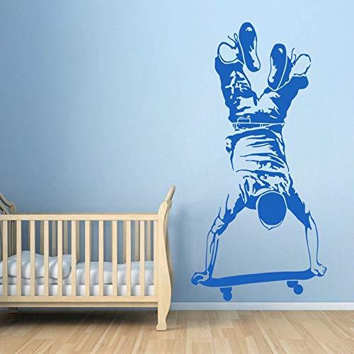 56x115cm Wand Poster, Skater Boy Skateboarding Kids Boy Bed Extremsport Skateboard Poster Bild Aufkleber Room Removable Sticker Abstrakte Vinyl Diy Decals