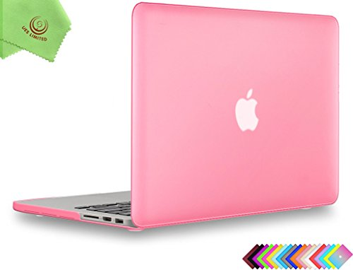 UESWILL Smooth Matte Hard Case for MacBook Pro (Retina, 13 inch, Early 2015/2014/2013/Late 2012), Model A1502/A1425,No USB-C, No CD-ROM, Pink