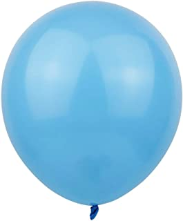 KALOR 100 pcs 12 Inch Light Blue Matte Latex Balloons Helium Balloons for Birthday Party Wedding Party Baby Shower Decorat...
