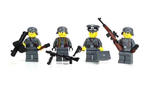 Battle Brick German WW2 Soldiers Complete Squad Custom Minifigure