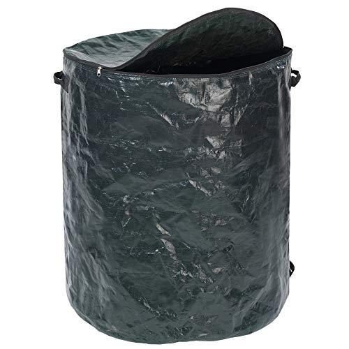 WENKO Multi-Abfall-Sack XXL - Gartensack zum Transport von Grünschnittabfällen, Laub, Holz, Polypropylen, 67 x 78 x 67 cm, Moosgrün
