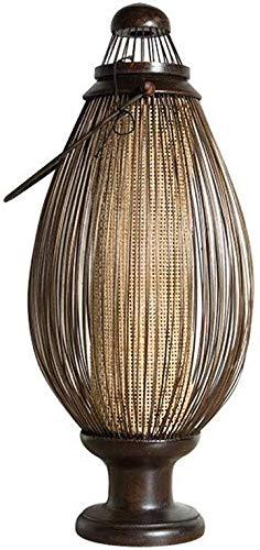 DJSMtd Bambú Estilo Inicio del sudeste asiático lámpara de Mesa Dormitorio Estudio Creativo Tejido a Mano lámpara de cabecera de la Personalidad Caliente Retro (Color : 27 * 62cm)
