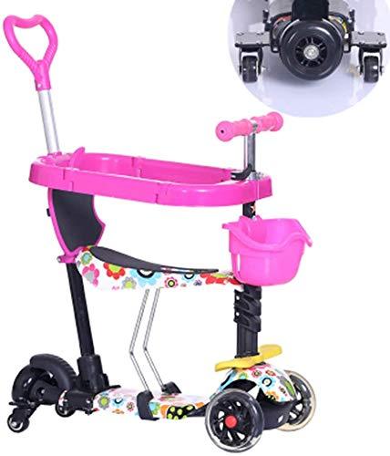 HFJKD Baby-scooter kinderen 5 in1 PU 3 wielen Knipperende schommel Auto Lifting 2-15 jaar Kinderwagen Rit Fiets Voertuig Kinderen Buitenspeelgoed