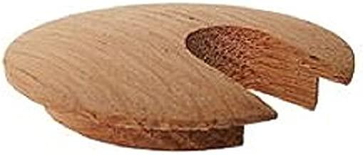Slotted Hardwood Desk or Wood Furniture Grommets, Oak, 1.75
