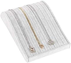 9 Sections Necklace Display Tray Premium Jewellery Organiser Storage Trays Holder Showcase Grey Velvet Liner
