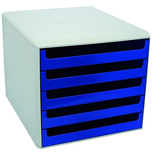Metzger & Mendle 30050911 Schubladenbox mit 5 Schüben blau