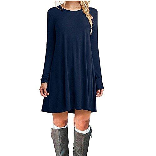 ZNYSTAR - Vestido informal para mujer, primavera, otoño,