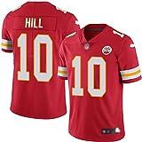 YDYL-LI American Football Kansas City Chiefs # 10 Tyreek Hill Training Spiel Trikot Atmungsaktiv - Entspannt Und Komfortabel T-Shirt - Sweatshirt, Rot - Streifen,S
