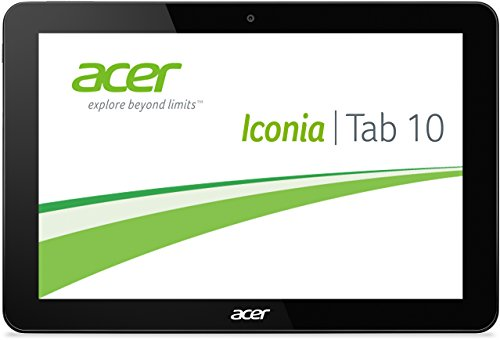 Acer Iconia Tab 10 (A3-A20HD) 25,65 cm (10,1 Zoll) Tablet-PC (MTK MT8127 Quad Core 1,3GHz, 1GB RAM, 16GB eMMC, Android KitKat 4.4, HD Bildschirm mit IPS Technologie, Touchscreen) schwarz