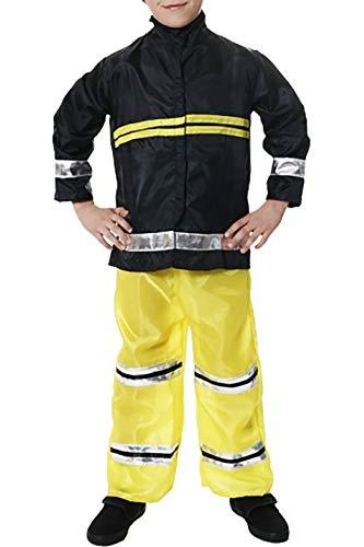 21Fashion Disfraz de bombero para nios de bomberos para adultos y nios, accesorio para fiestas de disfraces, disfraz de bombero, grande (10 a 12 aos)