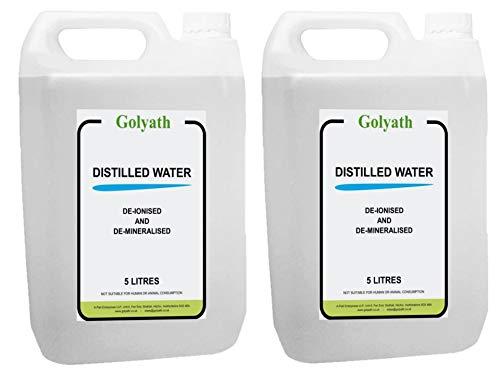 Agua destilada 10 L, 10 L (2 x 5 L) Agua destilada desmineralizada