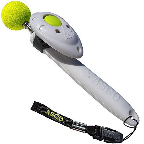 ASCO Unico Target Stick con clicker Rimovibile Premium, Target telescopico per clicker Training di Cani, Gatti e Cavalli, Bianco AC05TCS