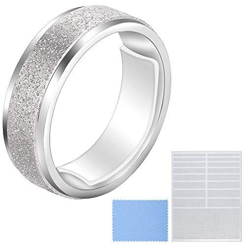 Ringgröße Verkleinern Lose Ringe Einsteller Unsichtbarer Ringgröße mit Sauberem Tuch zur Breiten Ringfixierung, 5 Blatt (85 Stücke Insgesamt)