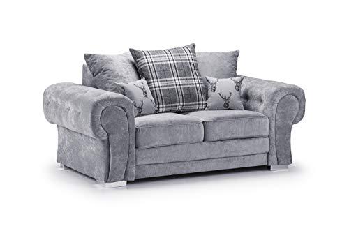 Honeypot - Sofa - Verona - Fabric - Corner Sofa - 3 Seater - 2 Seater - Footstool (Grey, 2 Seater)