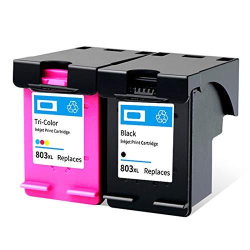 Cartuchos de tinta remanufacturados de repuesto para HP 803XL para HP Deskjet 1111/1112/2131/3132 Officejet 4620/4650 1* negro 1* color