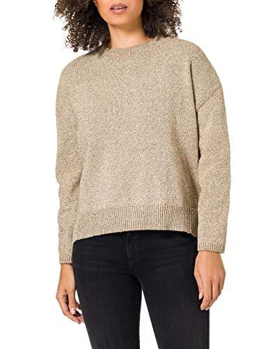 HUGO Damen Solace 10234278 01 Pullover, Medium Beige265, M