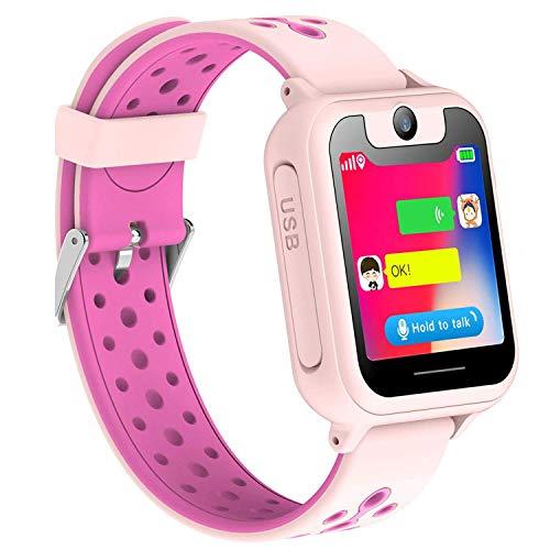 Smartwatch Niños, LDB Eu Localizador GPS/LBS Niños Reloj Inteligente para Niño Smart Watch con Pantalla Táctil SOS Hacer Llamadas Chat de Voz Cámara Juegos Mejor Regalo para Niño Niña de 3 a 12 años