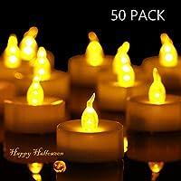 ► Package Include: 50pcs LED lumini, diametro 3.7 cm/1.4 pollici; altezza 3,7 cm/1,4 pollici. ► Facile da usare: alimentato da batterie CR2032 (incluse), l' atteso vita della batteria è di circa 100 ore. La vita della lampadina LED è di 50.000 ore. I...