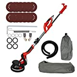 Drywall Sander,750W 6 Speed 800-1750RPM Wall Sander with Vacuum Attachment,LED Light,Retractable Handle,dust Bag,for Sanding Dry Walls