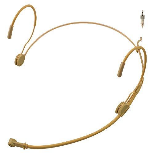 JK MIC-J 069 Ohrbügel-Headset, unidirektionales Mikrofon für das Sennheiser Wireless Mikrofonsystem – 35 mm (1/8 Zoll) TRS Verriegelungsschraube