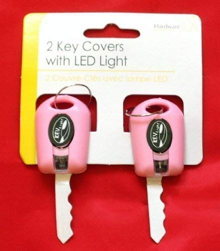 The Home Fusion Company 2 X Rosa Schlüssel Abdeckung mit LED Taschenlampe