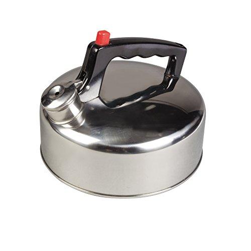 Siehe Beschreibung Flötenkessel leicht und robust aus rostfreiem Stahl mit Flip-top Deckel 2 Liter • Edelstahl Kessel Teekessel Wasserkessel Wasserkocher Teekanne Camping Outdoor