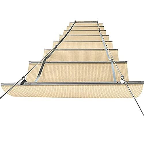 YJFENG Retráctil Vela De Sombra, Pérgola Marquesina De Techo Kits, Cuerda De Alambre Diapositiva Reemplazo Protector Solar Permeable Cubrir para Terraza Plataforma Kiosko