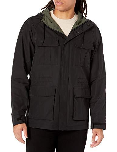 Amazon Essentials Giacca Parka Leggera da Montagna. Cotton-Lightweight-Jackets, Nero, US S (EU S)