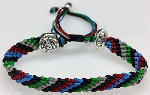 Mary's Terrace bracelet of cordes in RUGBY Couleurs. Faite à la Main sur Commande. Toutes les equipes de rugby disponibles HARLEQUINS