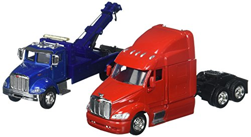 New-Ray 1:43 Long Haul Trucker - Peterbilt Model 335 Tow Truck & Model 387 Cab