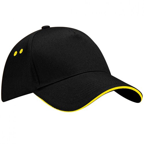 Beechfield B015 Ultimate Cap / Schirmmütze, 5Panels, Unisex, für Erwachsene, Schwarz One size