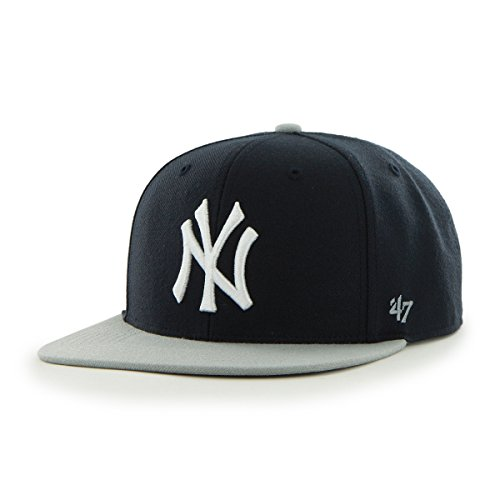 '47 MLB New York Yankees Sure Shot Two Tone Captain Adjustable Snapback Hat, Navy, One Size,Navy