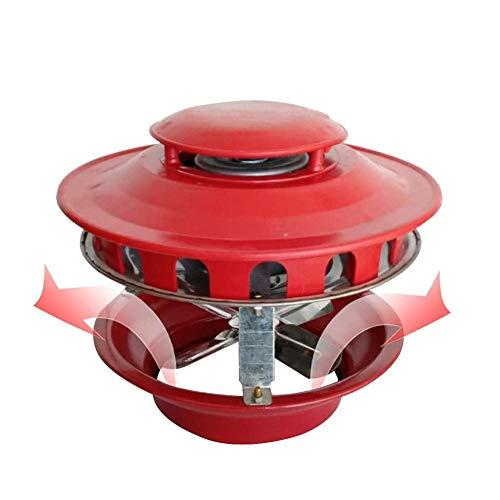 ZHIRCEKE 80 vatios Fans de Techo Chimenea Fan Chimenea Bombas de extracción de Humo, Ventilador eléctrico de Chimenea Ventilador de Escape de Humo para, 8 Hojas,C