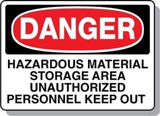 Beaed - Danger Las Vegas Mall OFFicial Hazardous Material Area 100-0021-79AL14 Storage