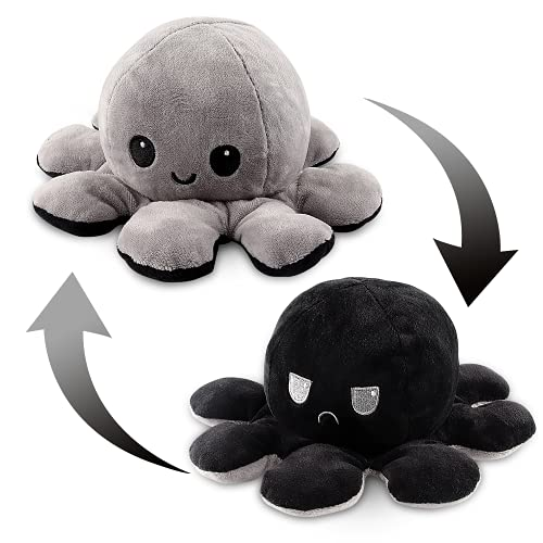 Esportic Peluche de Pulpo Reversible,Octopus Reversible, Bonitos Juguetes de Peluche muñeco de Doble Cara el Pulpo Reversible Original de Felpa Bonitos Juguetes de Peluche Niños (16)