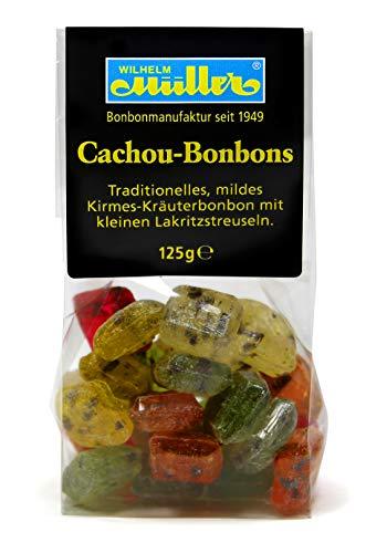 Cachou Bonbons - Traditionelles, mildes Kirmesbonbon mit kleinen Lakritzstreifen (1 Tüte)
