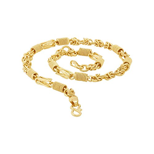 Dare by Voylla Designer Link Chain with Gold Plating Jewelry Gift for Him, Boy, Men, Father, Brother, Boyfriend