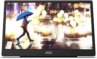 "AOC PHI-16T2 IPS 10 Points Touch Screen USB-C Portable Monitor, 15.6"", 8000mAh, Glossy Black"