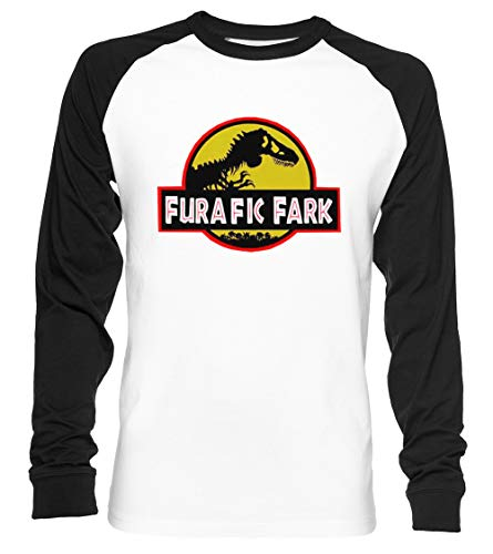 Furafic Fark Unisex Camiseta De Béisbol Manga Larga Hombre Mujer Blanca Negra