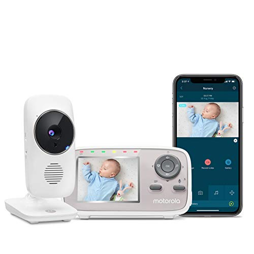 Motorola MBP667CONNECT 2.8' Video Baby Monitor with Wi-Fi Viewing, Digital Zoom, Two-Way Audio, and Room Temperature Display