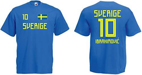 Schweden Ibrahimovic T-Shirt Trikot WM-2018 Look NEU