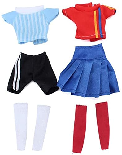 XinYiC Doll Clothes Football Jersey for 11.5 Inch Dolls Costume Accessories Sports Fashion Clothing Children's Day Gift, 2 Sets - #A