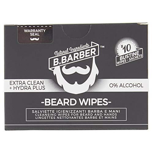 B.Barber Lingettes désinfectantes pour barbe et mains