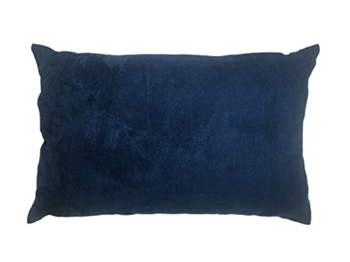 Original Sleep Company Herringbone Faux Suede Boudoir Cushion Cover in Pacific Navy Blue 40cm x 60cm (16' x 24')