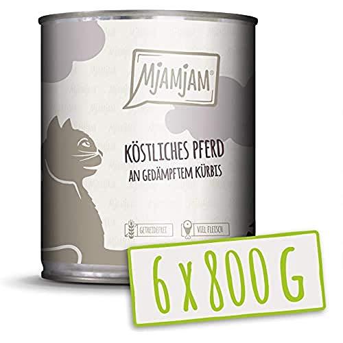 MjAMjAM Mangime Umido per Gatti, Vitello e Gustoso con Carotine, senza Cereali - Pacco da 6 x 800 g