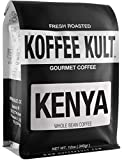 Koffee Kult Limited - Kenya AAA Medium Roast Coffee Beans Whole - 100% Single Origin Direct Trade From Arabica Beans - Fresh Artisan Roasted (Whole Bean, 12oz bag)