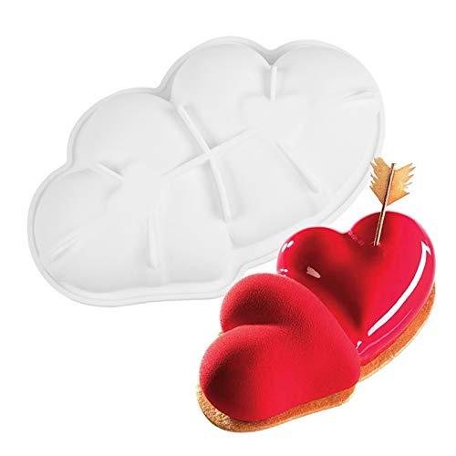 Valentinstag Silikonform Silikon Mini Kuchenform Backform Muffinform für Kuchen Fondant Dekorieren Gelee Eiswürfel Schokoladenformen (C, 1STK)
