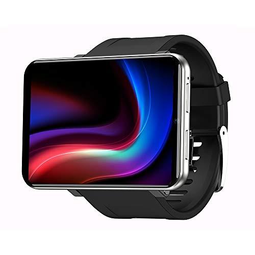 LEMFO LEM T Smartwatch con visualización de 2,86 pulgadas IP67 resistente al agua de 8,0 MP con monitor de ritmo cardíaco para Android e iOS, Plateado