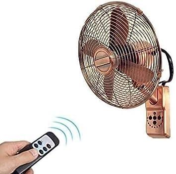 Ventilador de pared antiguo retro de 16 pulgadas - Control remoto incluido - Ajustes de 3 velocidades: ventilador de pared industrial Ventilador de escape oscilante, fanático de la cabeza de sacudida